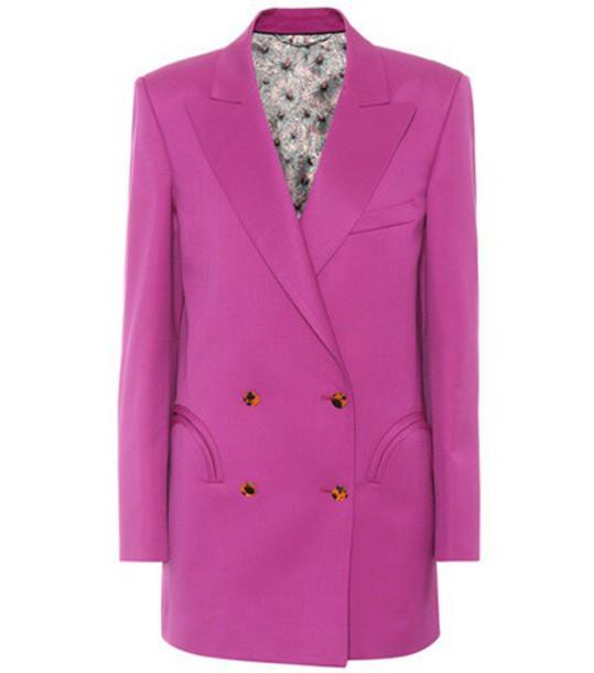 Blazé Milano Exclusive to mytheresa.com – Shamrock wool blazer in pink