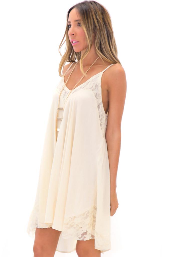 Marlana lace detail sun dress   haute & rebellious