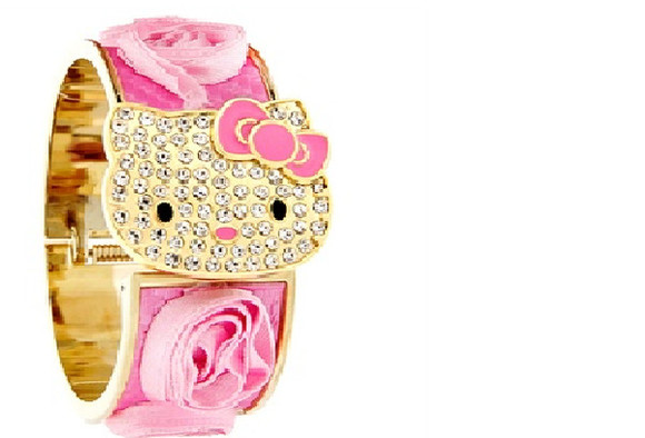 jewels watch gold rosses hello kitty