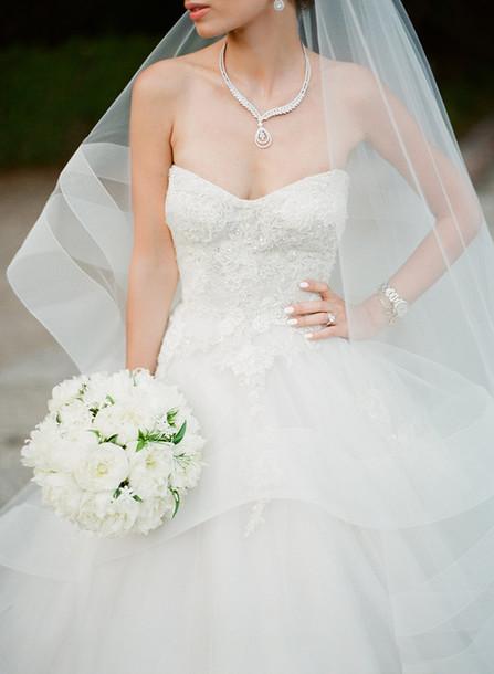 ruffled blog blogger shoes statement necklace bustier bustier dress wedding dress white dress wedding accessories