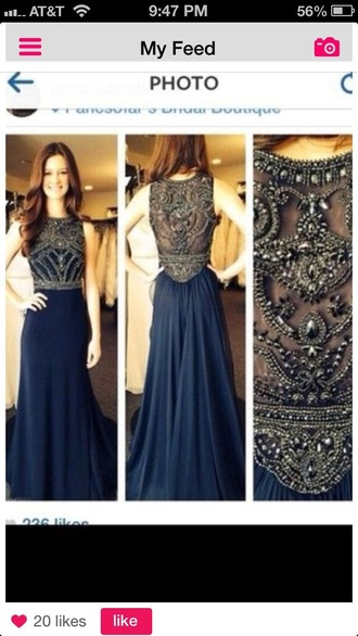 dress blue blue dress embroidered embellished dress prom dress formal dress fashion