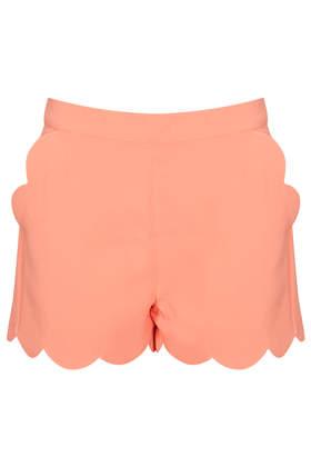 Apricot Scallop Hem Shorts - Shorts  - Clothing  - Topshop