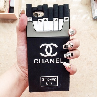 phone cover coco chanel smoking kills iphone iphone cover iphone 5 chanel smoking kills tumblr found on tumblr instagram