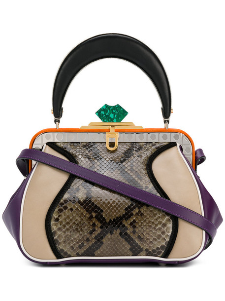MARNI snake women snake skin bag tote bag leather