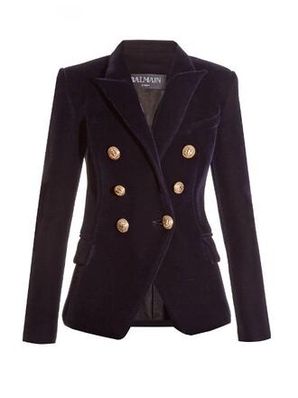 blazer velvet navy jacket