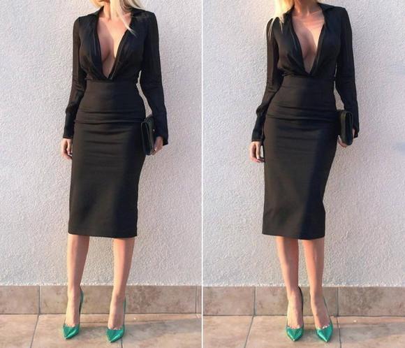 skirt black black skirt black midi skirt sexy sexy outfit evening outfits metallic blouse midi skirt iridescent