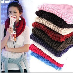 2012 winter knitting wool collar neck warmer scarf shawl multi colors new 10colo