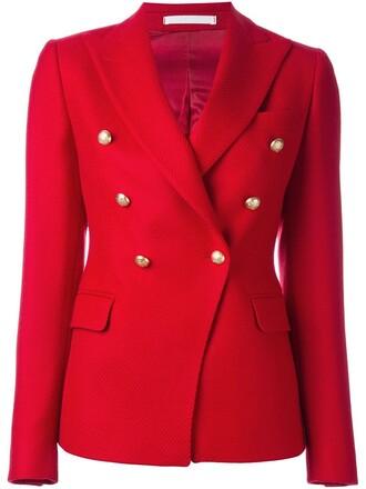 jacket women wool red
