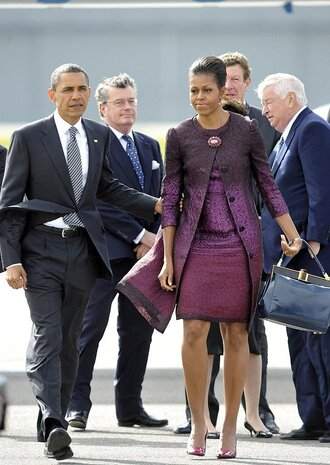 dress ombre dress michelle obama first lady outfits pumps barack obama