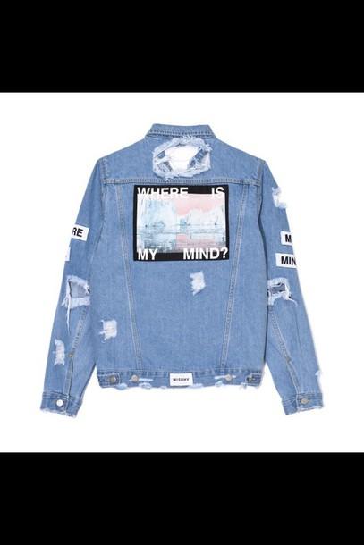 jacket tumblr tumblr outfit denim denim jacket oversized cool grunge alternative dope jeans lisa and lena denim jacket
