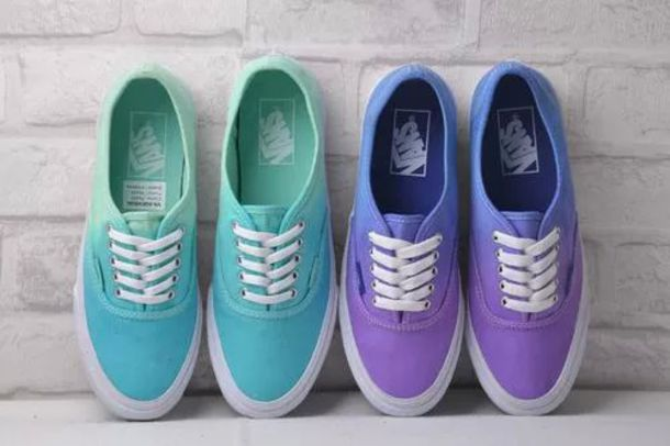 b8f78adae498 shoes vans ombre hipster vans purple mint blue pastel pale pale grunge goth  hipster sneakers