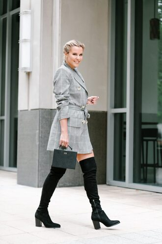 the courtney kerr blogger dress shoes bag jewels fall outfits handbag boots over the knee boots