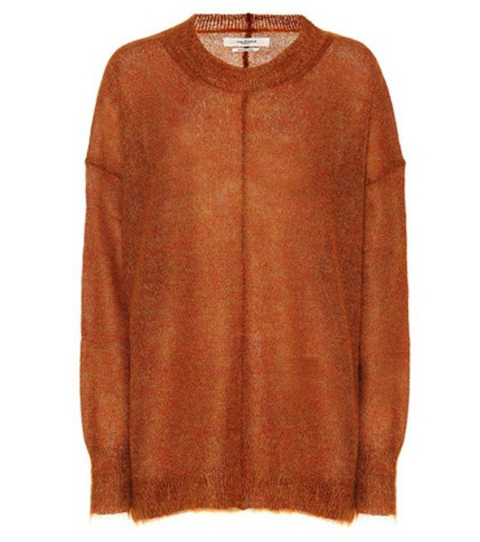 Isabel Marant, Étoile Chestery mohair-blend sweater in brown