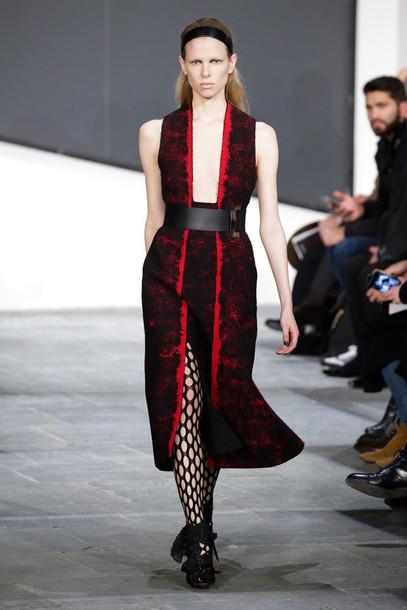 dress fashion week 2015 v neck dress
