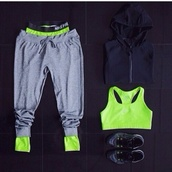 pants,sweatpants,lime,grey,underwear,sweater,tank top,grey sweatpants,nike,black zip up,hoodie,nike sportswear,sports bra,fitness,woman's,jeans,shoes,green,tights,gym clothes,gym,nike pro,grey pants,nike running shoes,leggings,sportswear,workout pants,exercise clothes,jumper,pullover,cardigan,whole oufit,bra,nike sports bra,neon green,nike pro leggings,grey nike sweats pants,workout,workout leggings,skirt,nike pro shorts,black crop top,sports shoes,jacket,top,black jacket,sports jacket,neon,joggers,sports pants