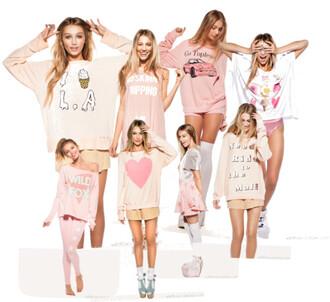 shirt pink ice cream shorts sexy ice cream pom pom pom pom pom pom dress vue boutique pink sweater sweater dress pink sweater dress