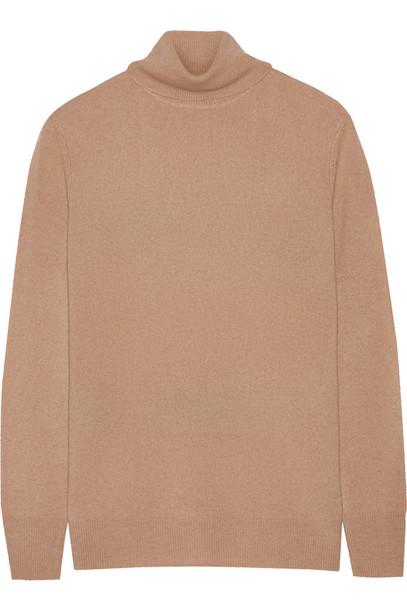 Equipment sweater turtleneck turtleneck sweater camel
