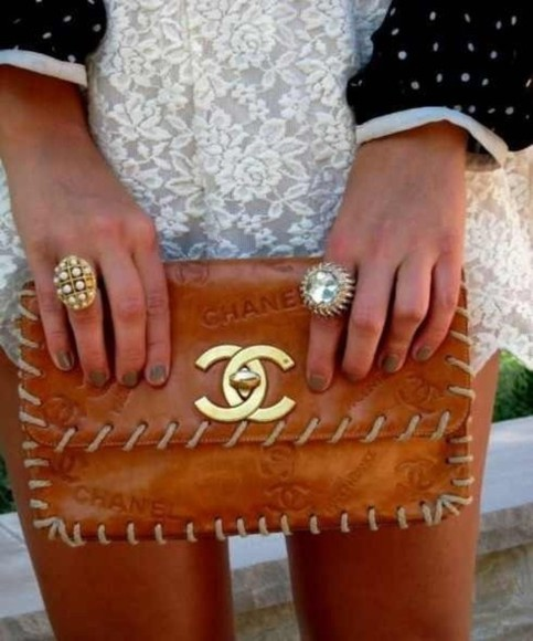 bag leather bag tan purse chanel bag chanel