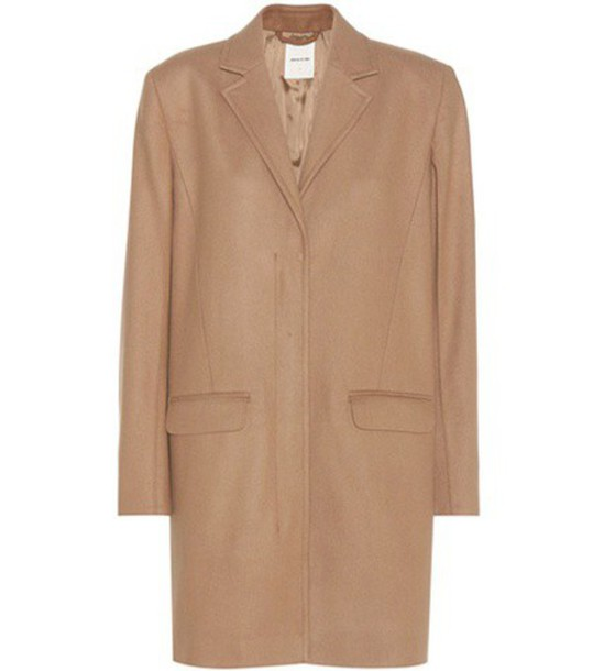 Wood Wood Wool-blend Coat in beige / beige