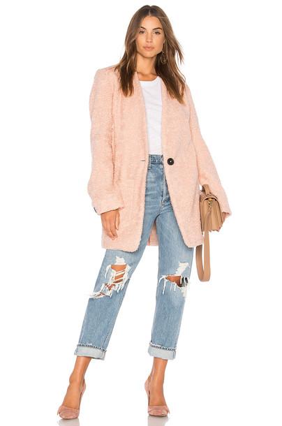 Line & Dot coat pink