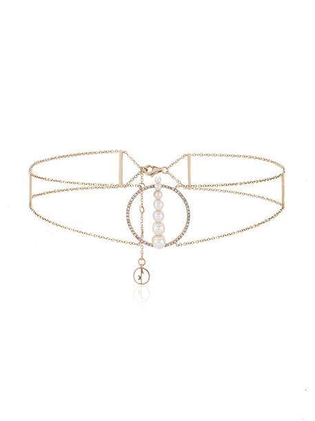 ANISSA KERMICHE women pearl gold grey blanc metallic jewels