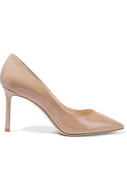 Jimmy Choo - Romy Patent-leather Pumps - Sand