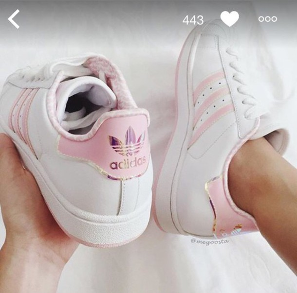 deaedf83c4c shoes trainers adidas love tumblr adidas shoes rose white white adidas shoes  basket adidas superstars blanche