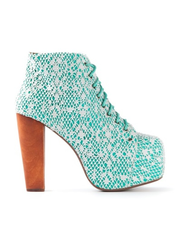 shoes aqua lace up aqua high heels