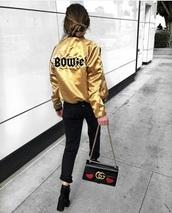 jacket,David Bowie,yellow