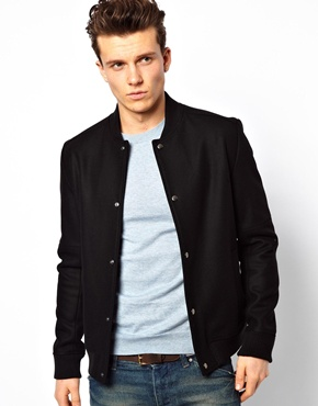 Reiss | Reiss Wool Bomber Jacket at ASOS