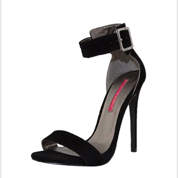 Open Toe Heels With Ankle Strap - Qu Heel