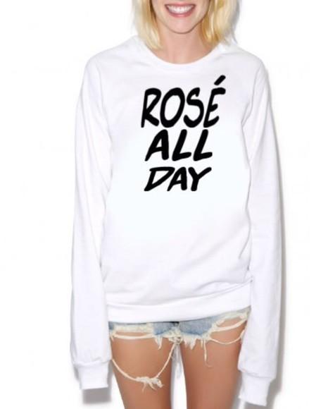 girly sweater rose all day grunge sweatshirt girly sweashirt cute sweatshirt beyonce sweatshirt beyoncé shirt beyoncé shirt nastygal sweatshirt nastygal clothes nastygal dolls kill grunge t-shirt
