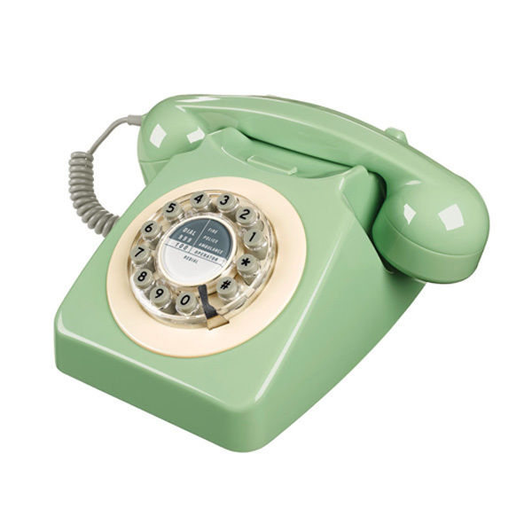 Wild & wolf petrol 746 swedish green phone mod corded telephone mod vintage 60s
