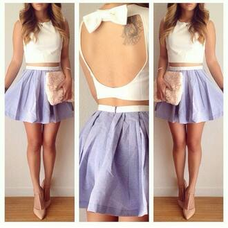 top bow top skirt