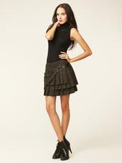 tartan,black top,sleeveless,sleeveless top,mini skirt,plaid skirt,high heels,shoes,casual,classy,zip,zipper shoes,lace-up shoes,black