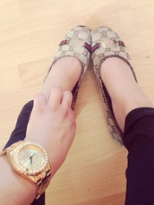 jewels,gucci shoes,gold watch,leather pants