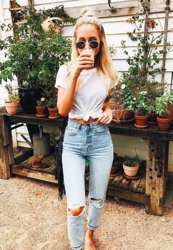 jeans denim jeans fashion style stylish mom jeans blue jeans