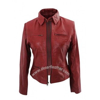 jacket once upon a time emma swan leather jacket women's jacket clothes style movie film red jacket celebs online store