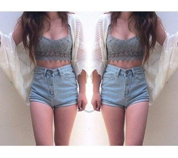 shorts crop tops cardigan sweater outfit cute outfits jacket t-shirt