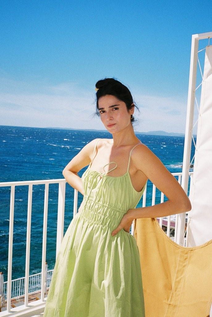 Gabriela Dress Pistachio PRE-ORDER