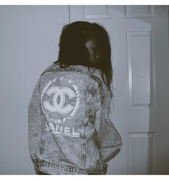 jacket chanel chanel jacket denim jacket
