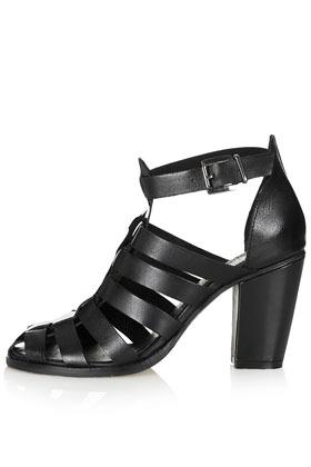 Gerrie black heel gladiators