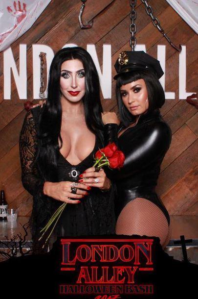 top bodysuit long sleeves halloween halloween costume halloween makeup demi lovato hat celebrity halloween costume