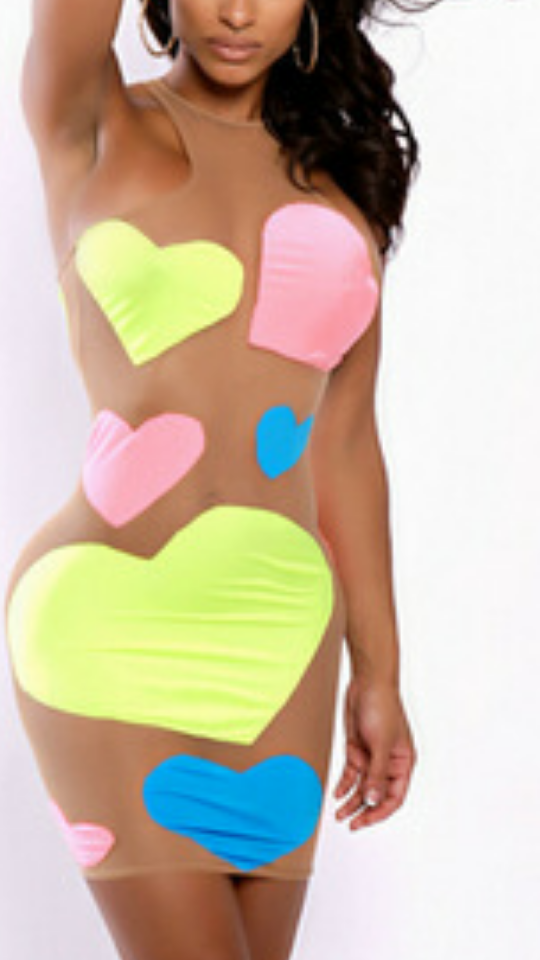 Yum yum sweet colorful mesh dress