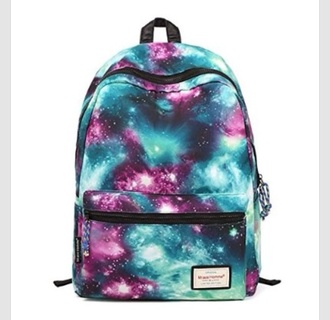 bag galaxy print back to school backpack fashion bookbag style girly