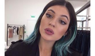 make-up lip liner kylie jenner lipstick colorful lips mauve