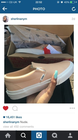 shoes vans orange pastel sneakers apricot nude shoes nude dope