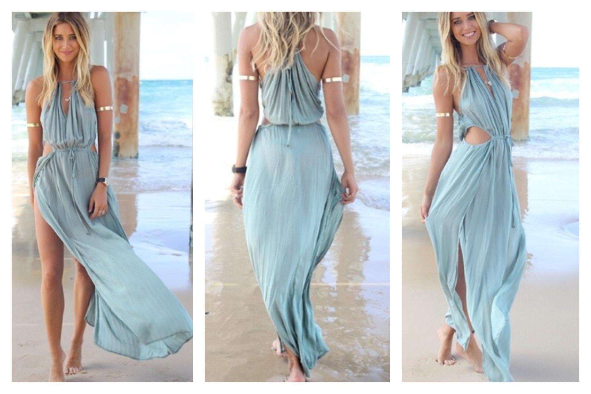 Drawstring blue dress · summah breeeze · online store powered by storenvy