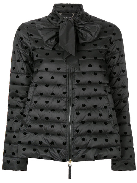 Twin-Set jacket bow women black