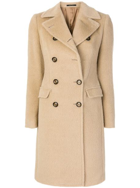 coat double breasted women nude wool